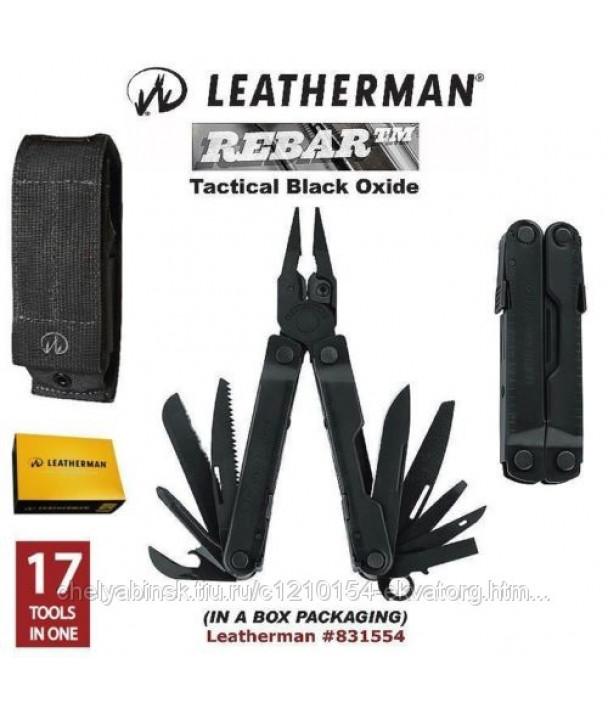 Leatherman Rebar Black черный Мультитул с тактическим нейлоновым чехлом
