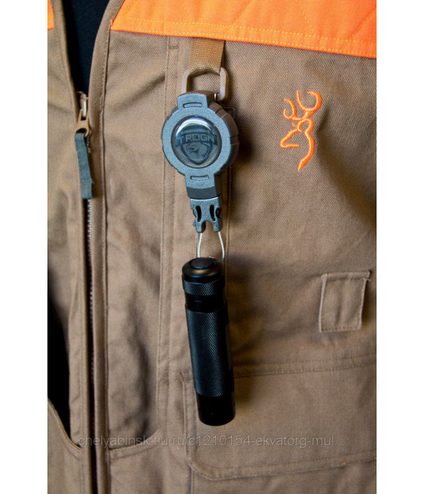 Ретрактор T-Reign малый с карабином, шнур 60см, цвет хаки